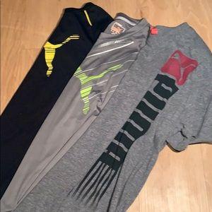 3 Puma Shirts